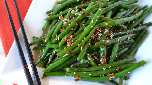 Asian Style Stir Fried Green Beans