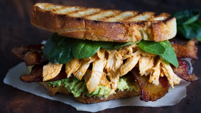 Bacon and Sriracha Chicken Sandwich