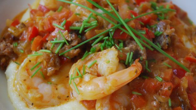 Caribbean Creole Shrimp and Grits