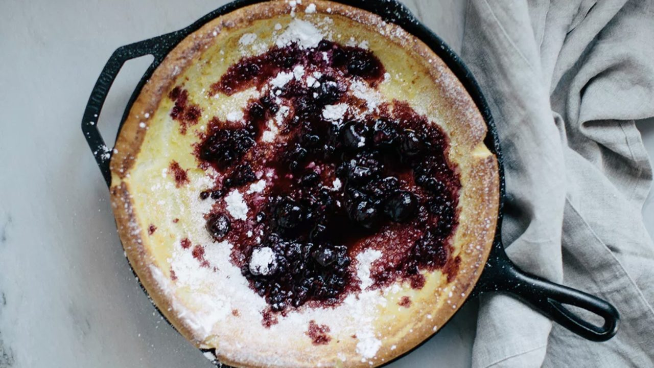 Cast Iron Dutch Baby Cake
