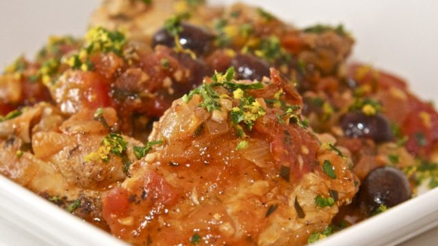 Chicken Provencal with Orange Gremolata