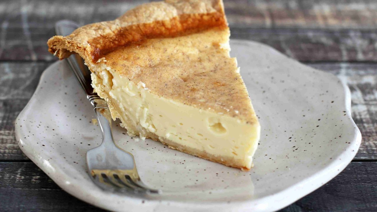 Classic Custard Pie with Nutmeg