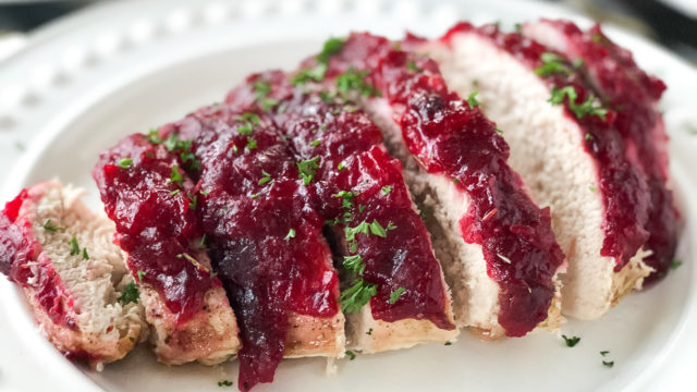 Cranberry Glazed Turkey Breast