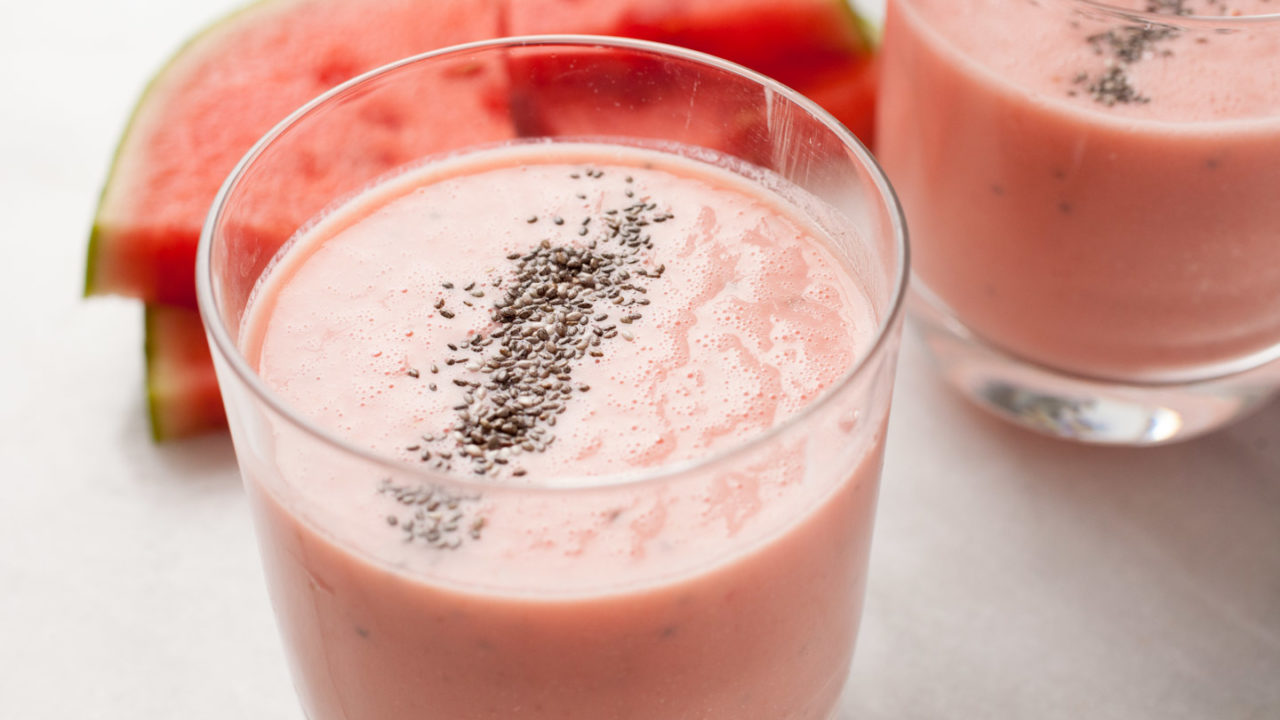 Creamy Watermelon Honey Smoothie