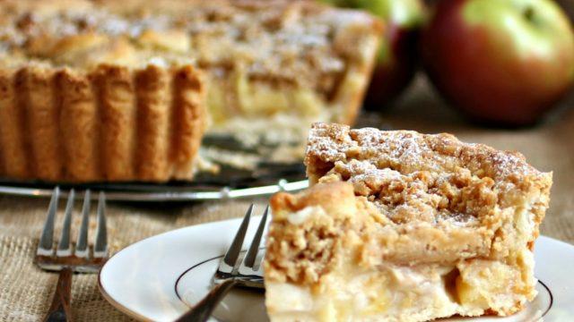 Deep Dish Dutch Apple Pie with Peanut Butter Streusel