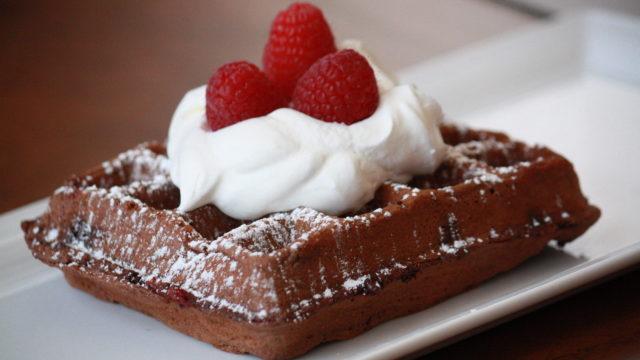 Double Chocolate Whole Wheat Raspberry Waffles