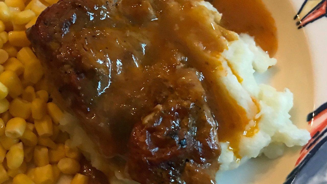 Easy Golden Mushroom Pork