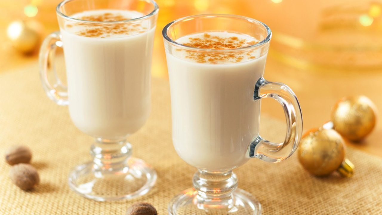 Eggnog with Brandy, Bourbon, or Rum