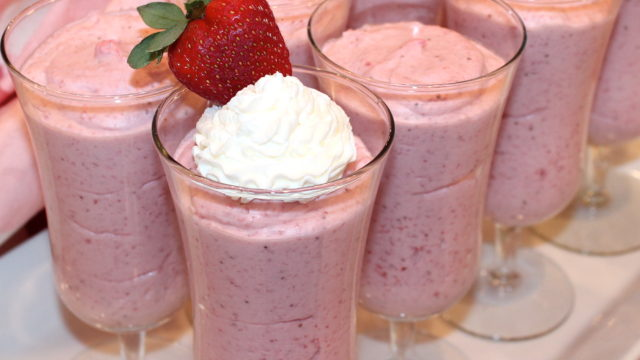 Elegant Strawberry Mousse