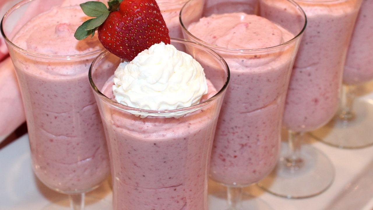 Elegant Strawberry Mousse