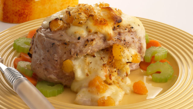 German Stuffed Pork Chops