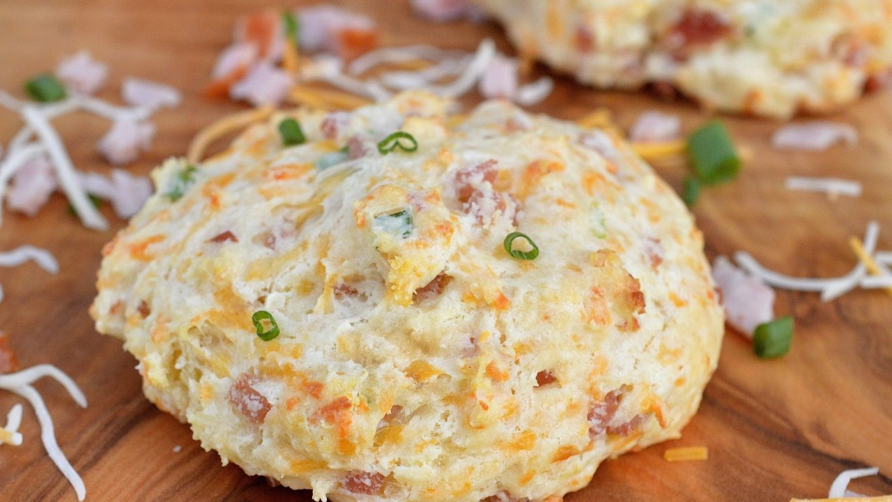 Ham & Cheese Buttermilk Biscuits