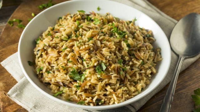Instant Pot Vegetarian Rice Pilaf