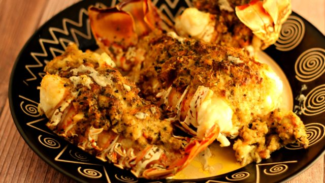 Mahi-Mahi Stuffed Lobster Tails