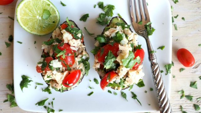 Mexican Style Tuna Salad Stuffed Avocado