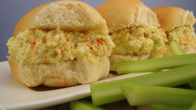 Mini Bacon & Egg Salad Sandwich