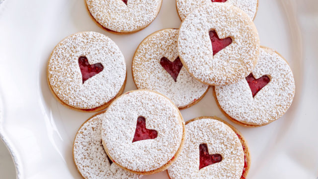 Mini Linzer Cookies