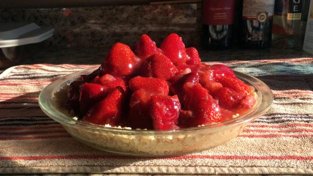 Mom's Strawberry Almond Pie