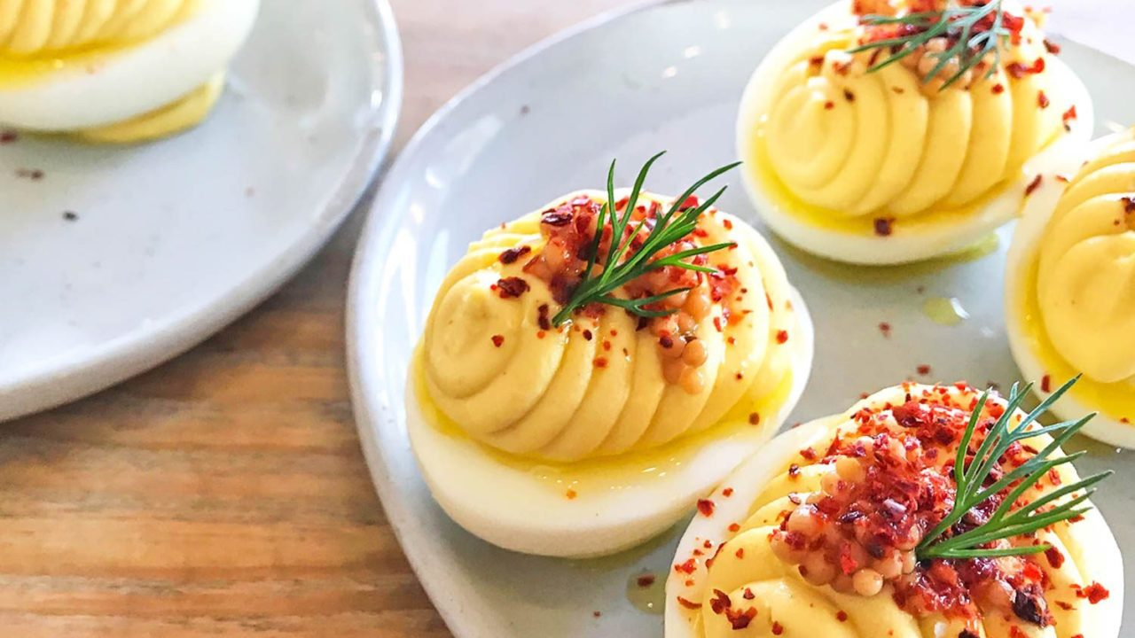 Mustardy Deviled Eggs