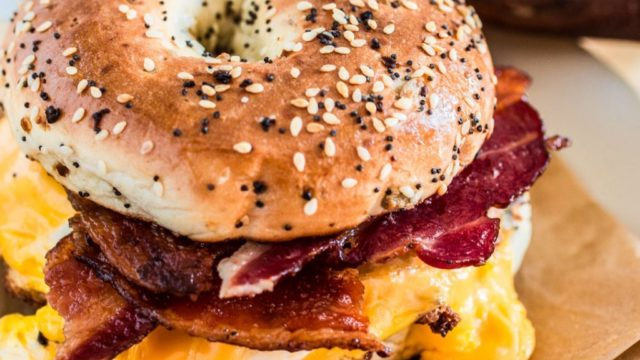 New York-Style Bacon Egg and Cheese Sandwich