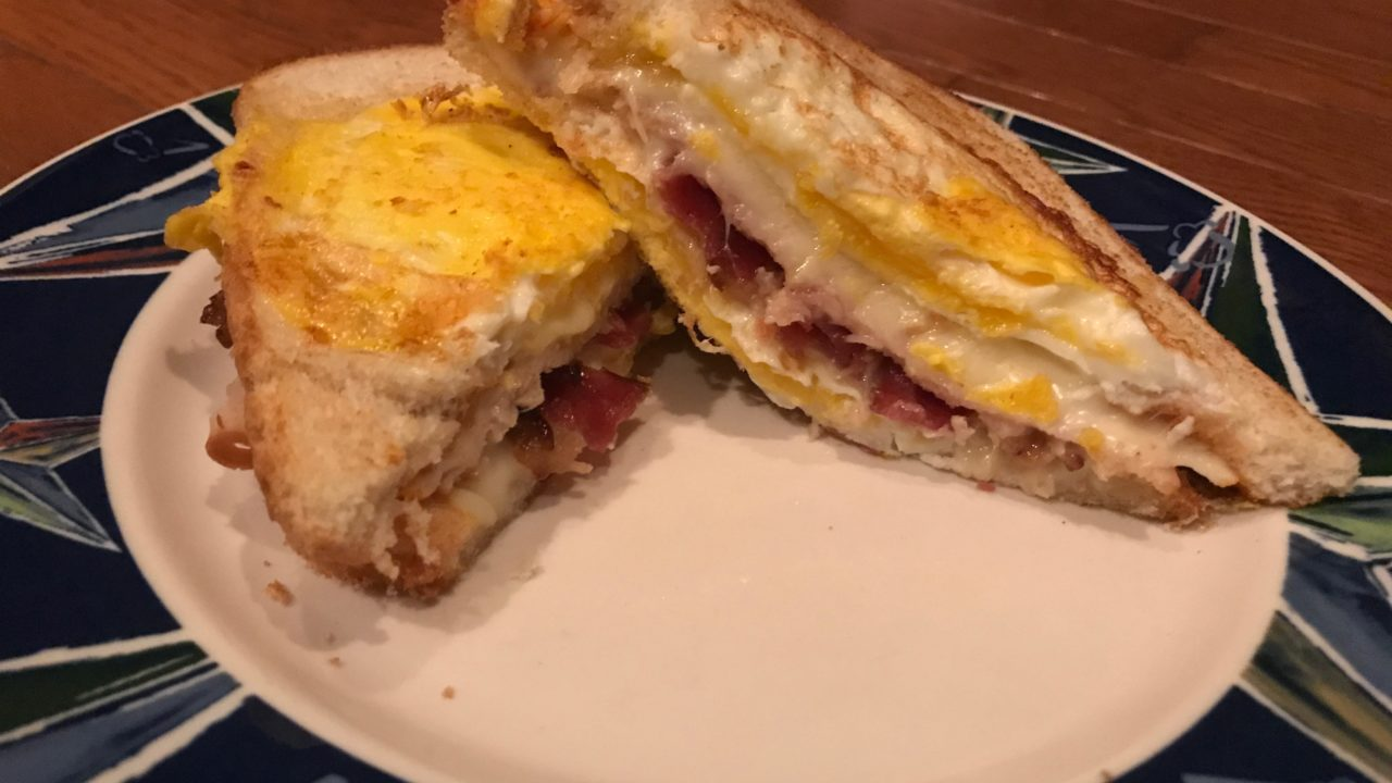 Outside Egg Turkey Bacon Grilled Sandwich