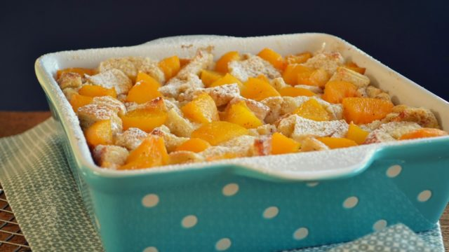 Peaches & Cream Bread Pudding