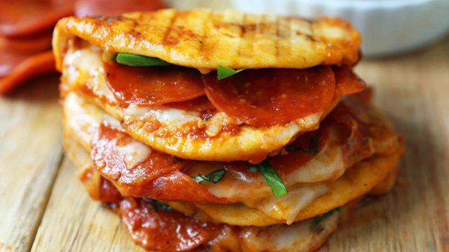 Pepperoni Pizza Flatbread Panini