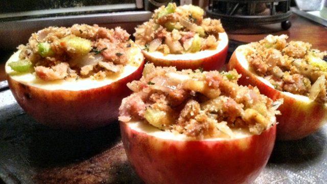 Savory Stuffed Baked Apples