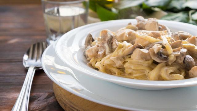 Slow Cooker Chicken Mushroom Stroganoff