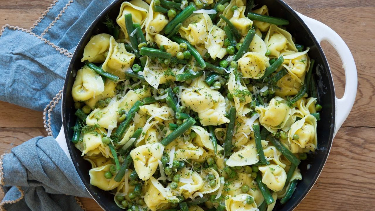 Tortellini with Green Beans and Lemon
