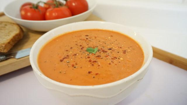 Vegan Creamy Basil Tomato Soup
