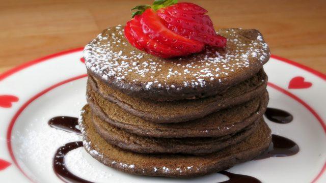 Whole Wheat Chocolate Pancakes